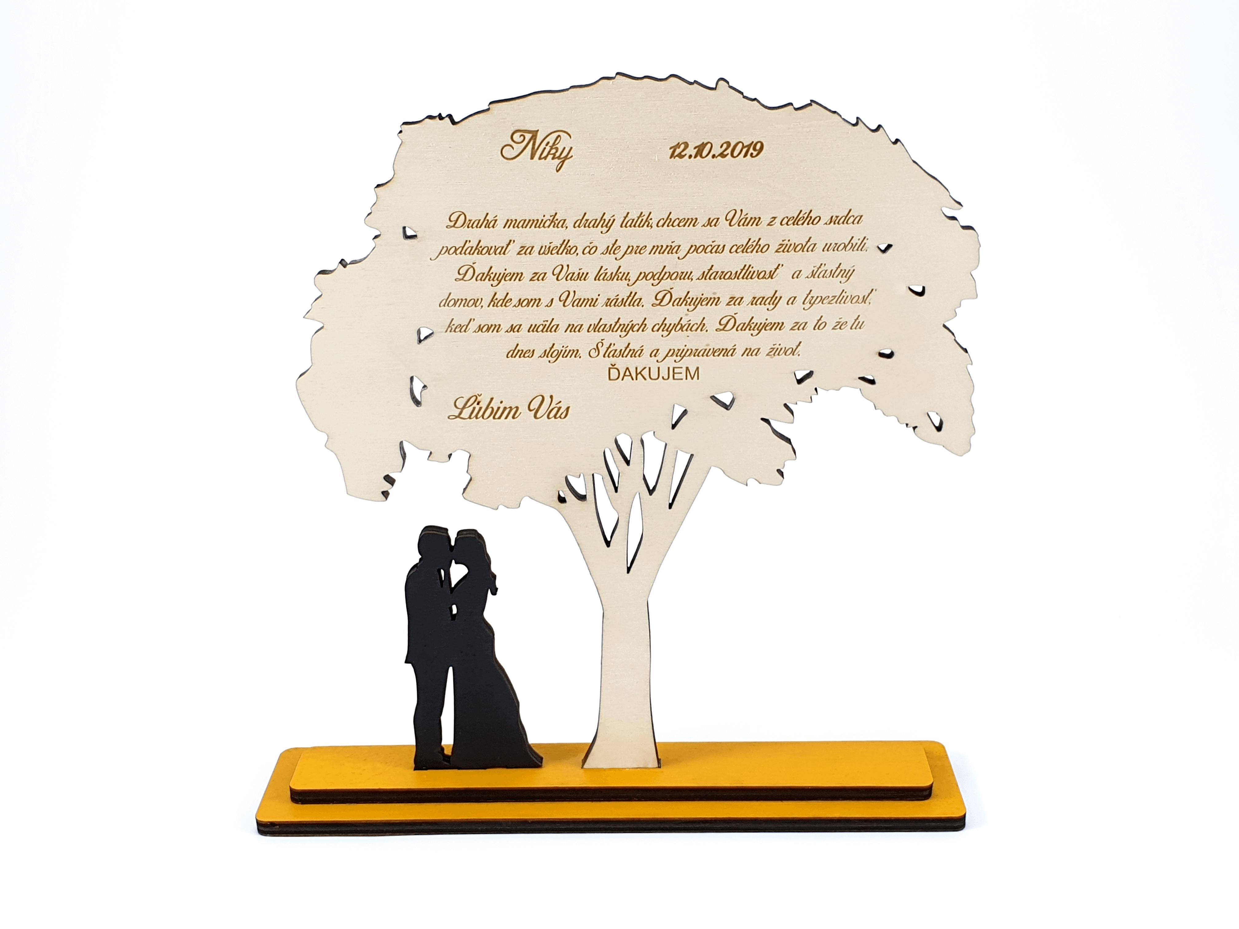 Poďakovanie rodičom - strom