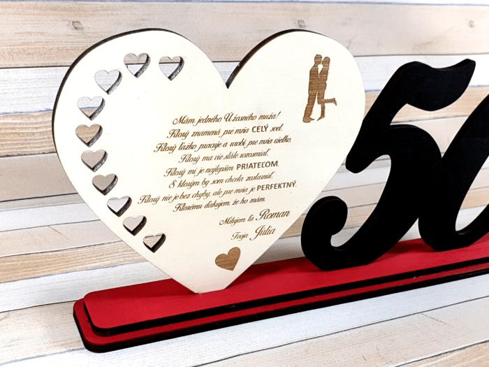Srdce so srdiečkami a vekom - pohľad