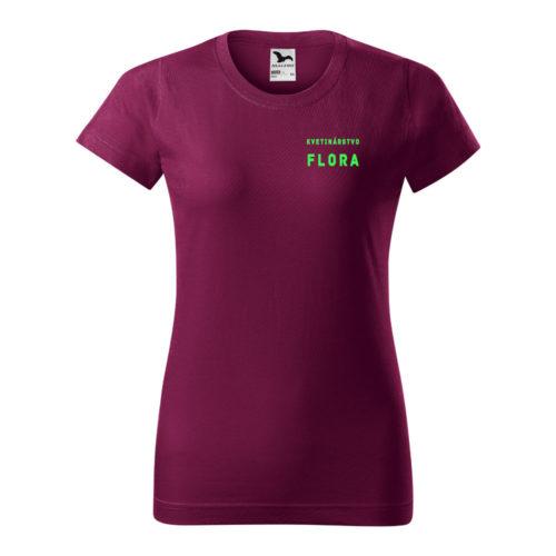 Dámske tričko BASIC s potlačou