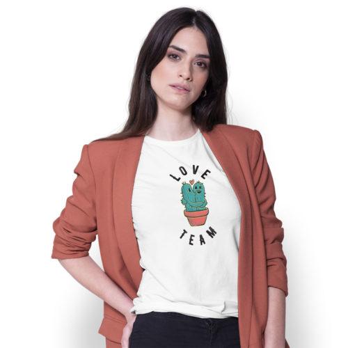Dámske tričko KAKTUS LOVE TEAM na modelke
