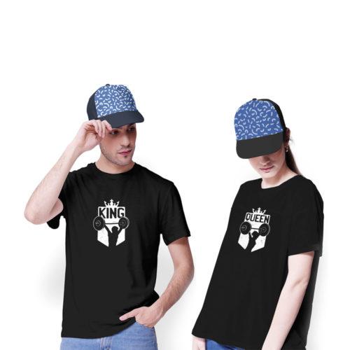 Tričká pre páry KING a QUEEN FITKO na modeloch