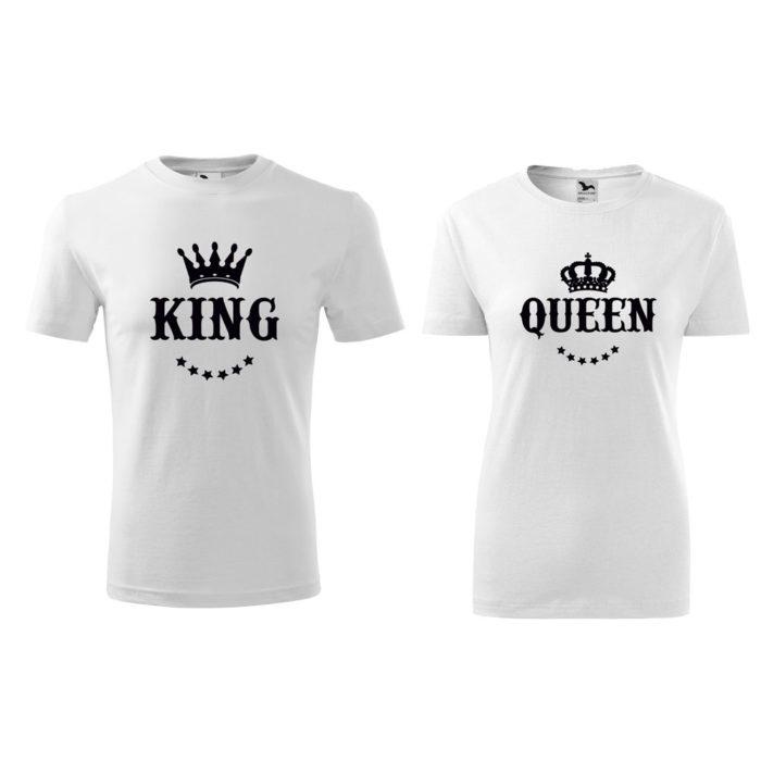 Tričká pre páry KING QUEEN KORUNA