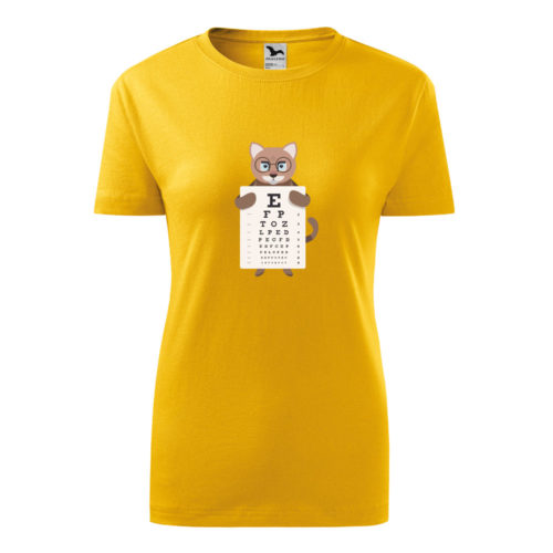 Dámske tričko MAČKA A PÍSMENÁ