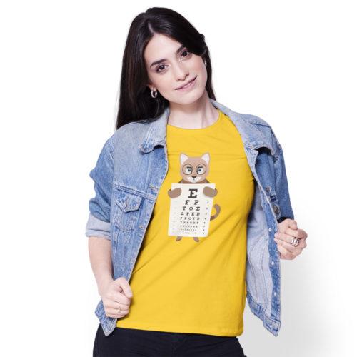 Dámske tričko MAČKA A PÍSMENÁ model