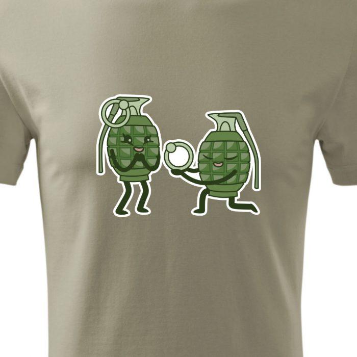 pánske tričko s potlačou GRANÁTY - detail