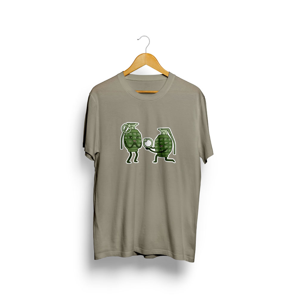 pánske tričko s potlačou GRANÁTY - na vešiaku