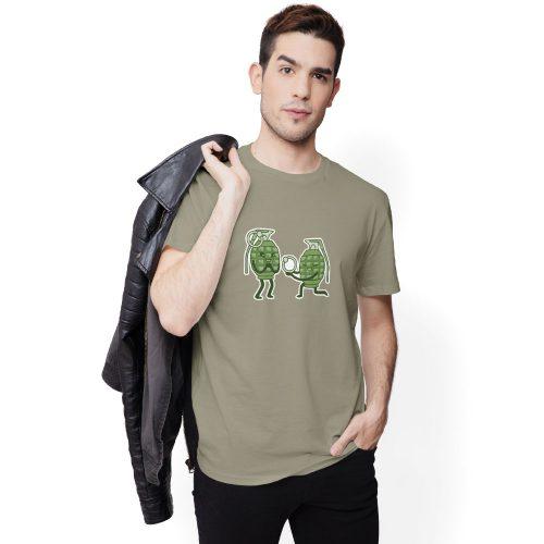 pánske tričko s potlačou GRANÁTY - model