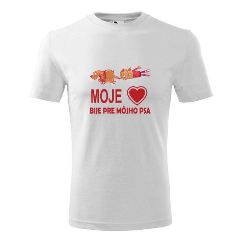pánske tričko s potlačou Moje srdce bije pre môjho psa