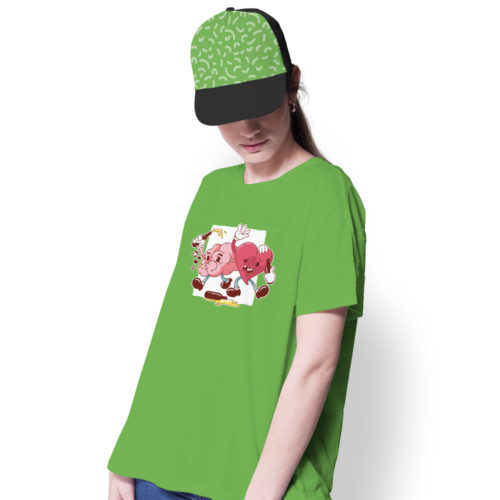 Tričko ROZUM A SRDCE na modelke