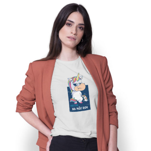 Dámske tričko UNICORN NEČUM na modelke