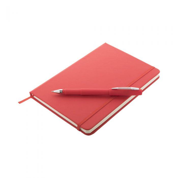 MARDEN sada s blokom a perom červená