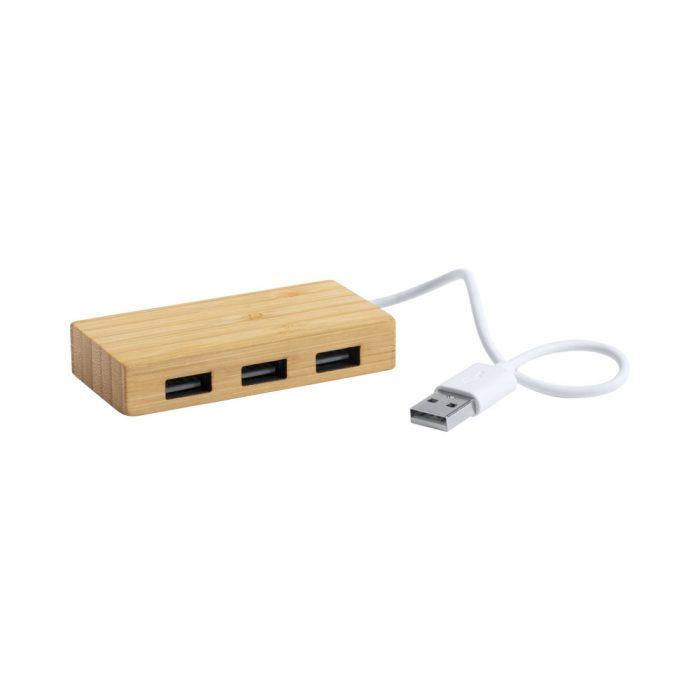 USB hub REVOLT bambus