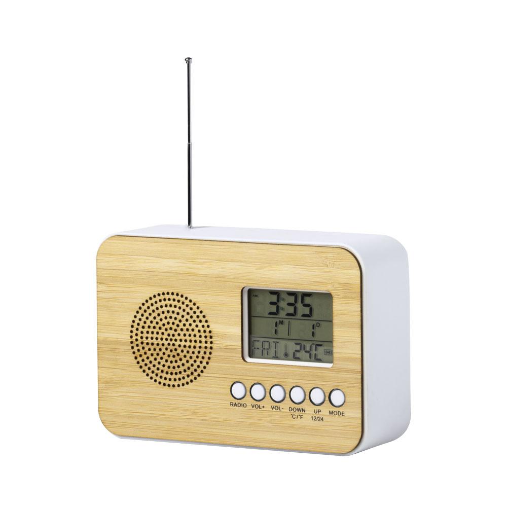 TULAX stolné rádio s hodinami