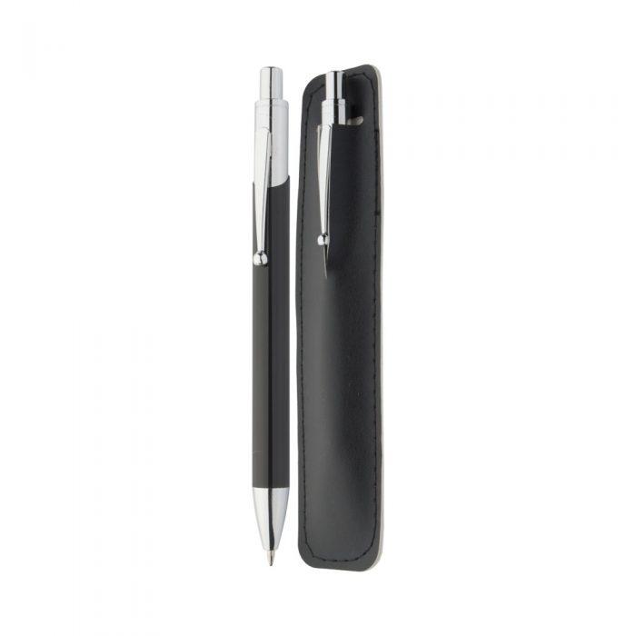 GAVIN čierne guľôčkové pero