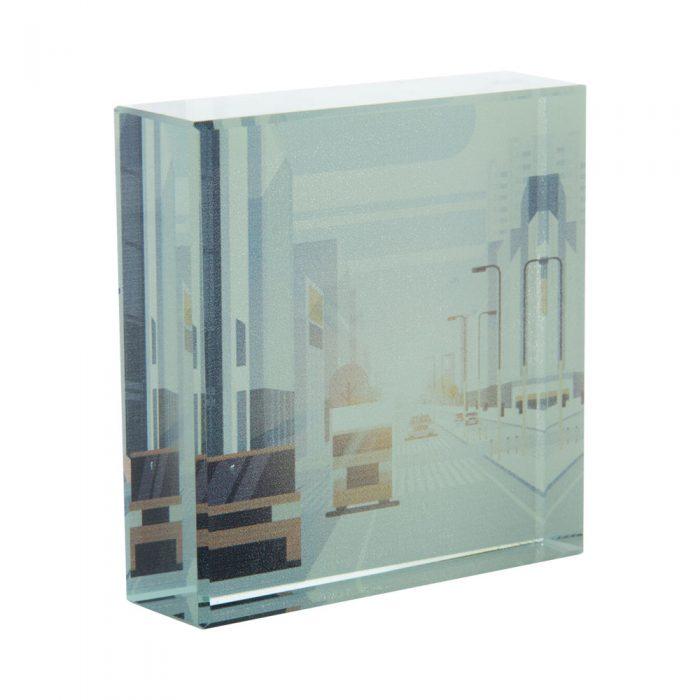sklenené ťažítko LOUISVILLE s potlačou