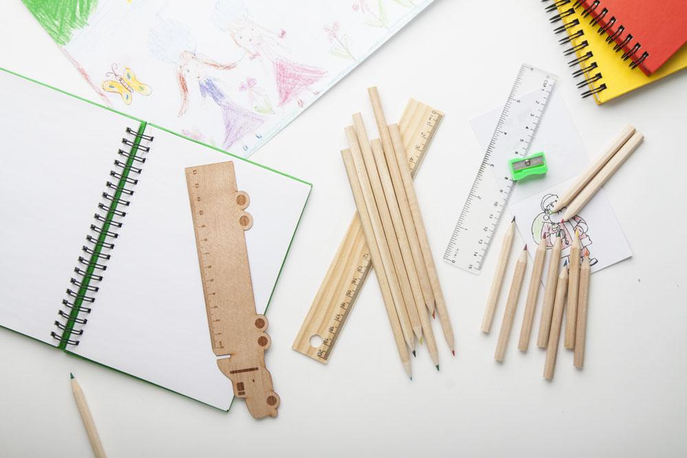 farebný set ceruziek DRAGON prírodný