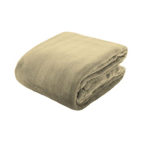 ESPOO flanelová deka béžová