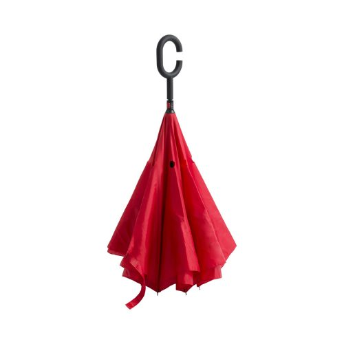 obojstranný dáždnik HAMFREK červený