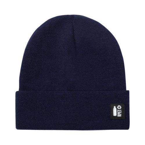 zimná čiapka RPET HETUL tmavo modrá