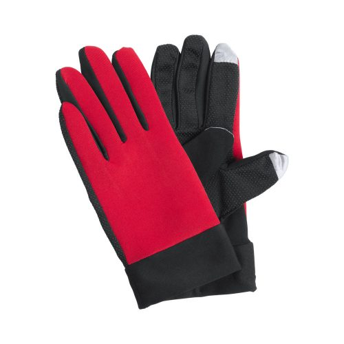 dotykové športové rukavice VANZOX červené