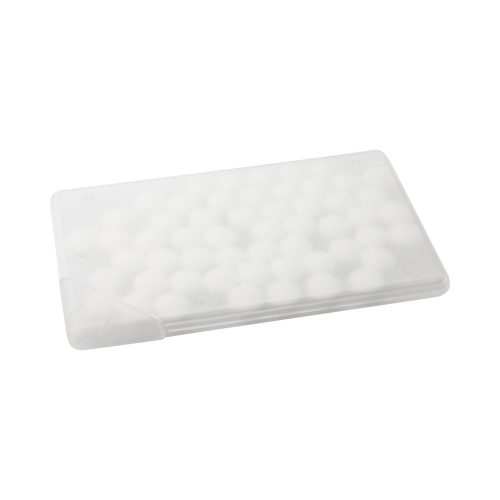 CARD krabička s mentolovým icukríkmi ľadovo biela