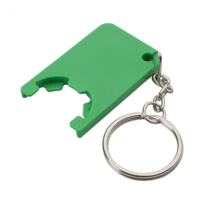 zelený prívesok na kľúče so žetónom BEKA