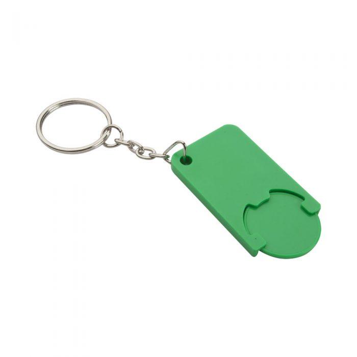 prívesok na kľúče so žetónom zelený BEKA