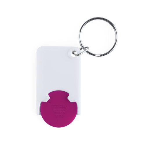 prívesok na kľúče so žetónom ZABAX ružový