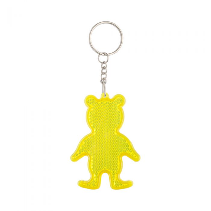 prívesok na kľúče - odrazka SAFEBEAR žltý