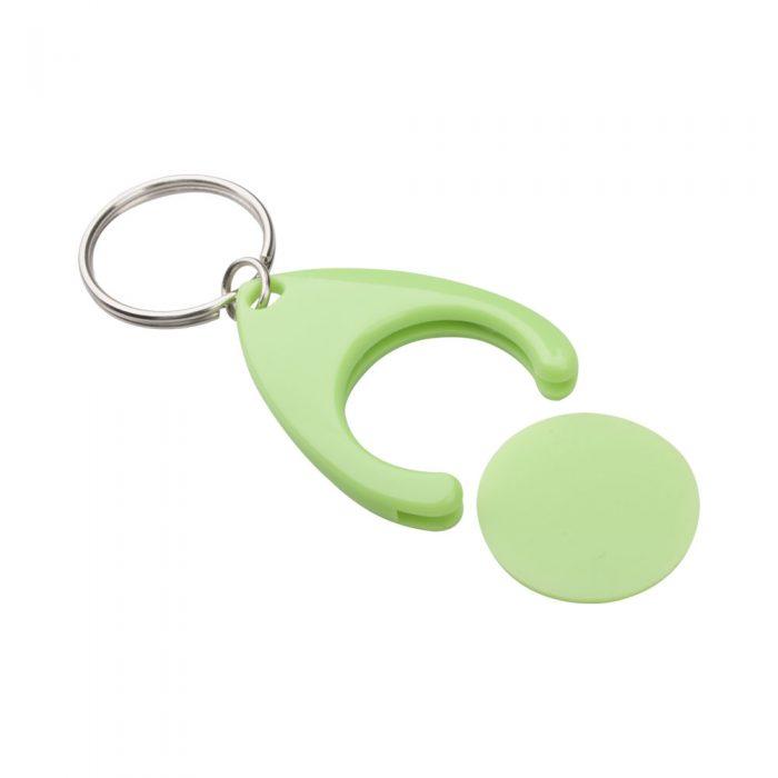 prívesok na kľúče so žetónom zelný NELLY