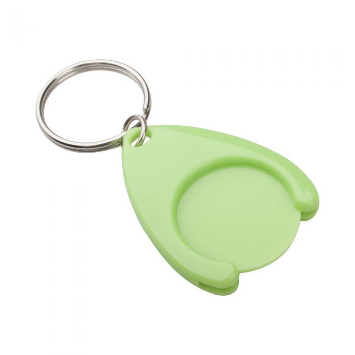 zelený prívesok na kľúče so žetónom NELLY