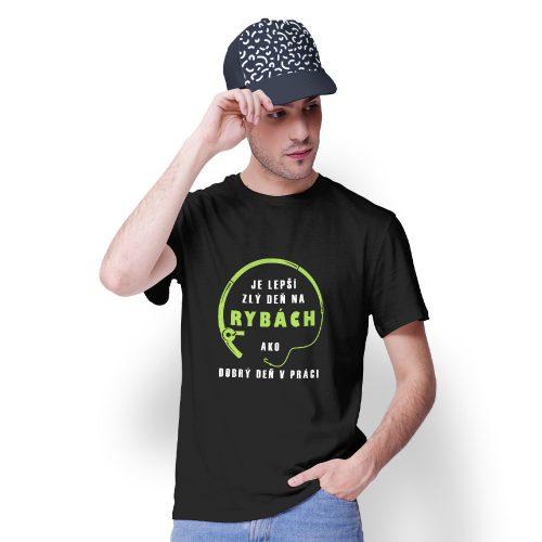 tričko s potlačou LEPŠÍ ZLÝ DEŇ NA RYBÁCH