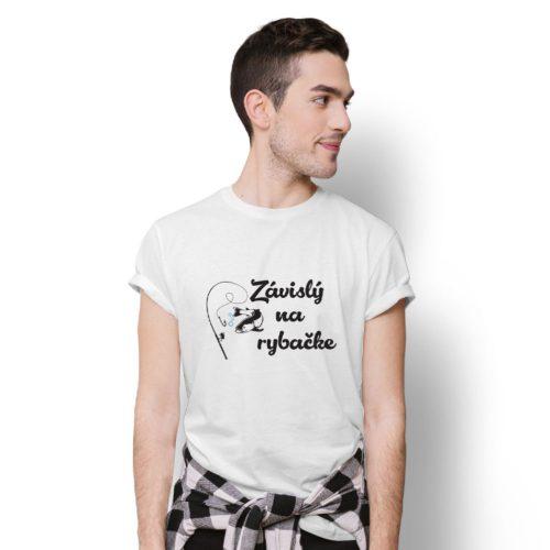 tričko s potlačou ZÁVISLÝ NA RYBAČKE
